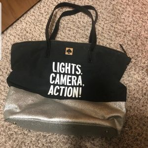Guc kate spade lights camera action tote